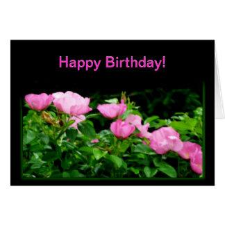 Happy Birthday-Black Rose Trail Greeting Card