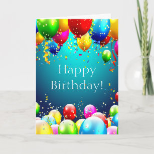 Cards greeting cards more zazzle ca happy birthday blue coloured balloons card m4hsunfo