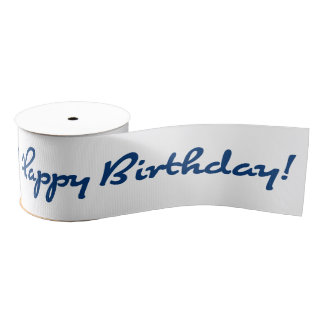 Happy Birthday! Blue Grosgrain Ribbon