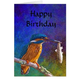 Happy birthday Blue kingfisher card