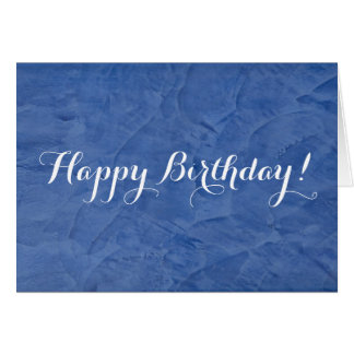 Happy Birthday Blue Plaster Card