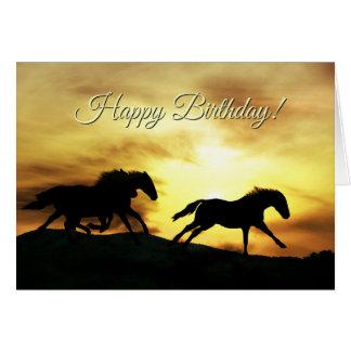 Happy  Birthday Born to Be Wild Horse Birthday Card