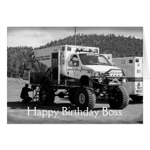 Happy Birthday Boss Card