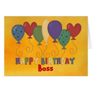 Happy Birthday Boss, Colorful Greeting Card