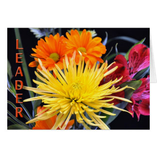 Happy Birthday Boss Floral Greeting Card