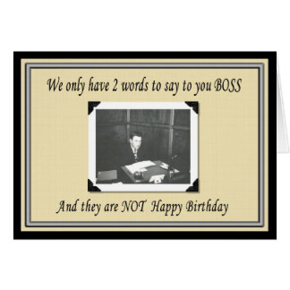 Happy Birthday Boss from Group Greeting Cards