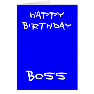 Happy birthday boss greeting cards
