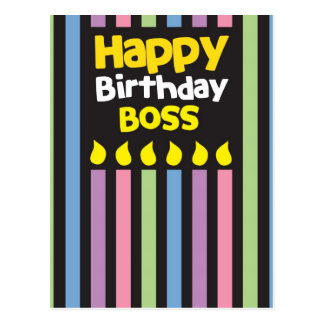 Happy Birthday BOSS Post Card