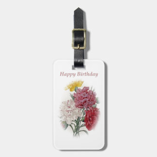 Happy Birthday Bouquet Luggage Tag
