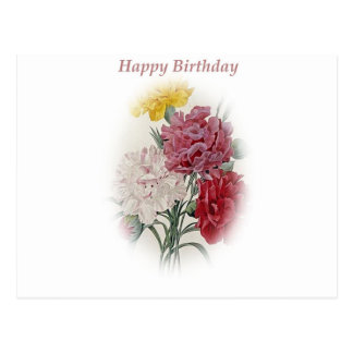 Happy Birthday Bouquet Postcard