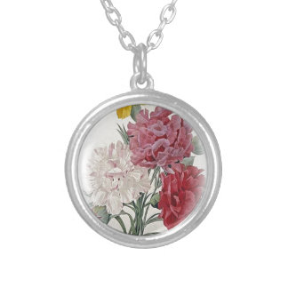Happy Birthday Bouquet Silver Plated Necklace