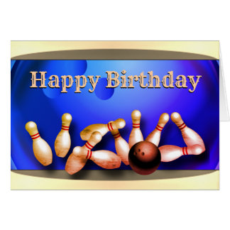 Happy Birthday Bowling Card