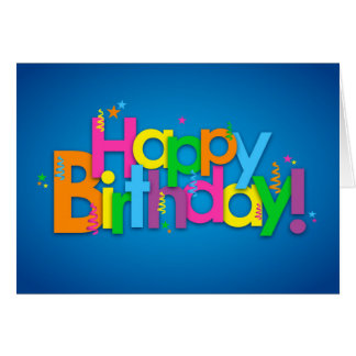 Happy Birthday - Bright Colors Card