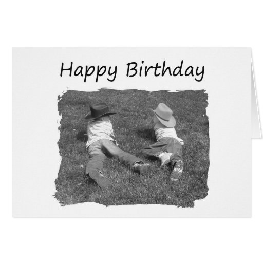 Happy Birthday Brother - Cowboys Cards