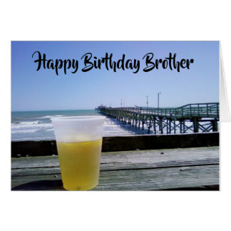 Happy Birthday ****BROTHER*** DAY AT THE PIER Card