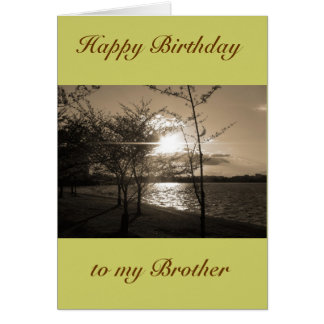 Happy Birthday Brother from Brother/Sister Greeting Card