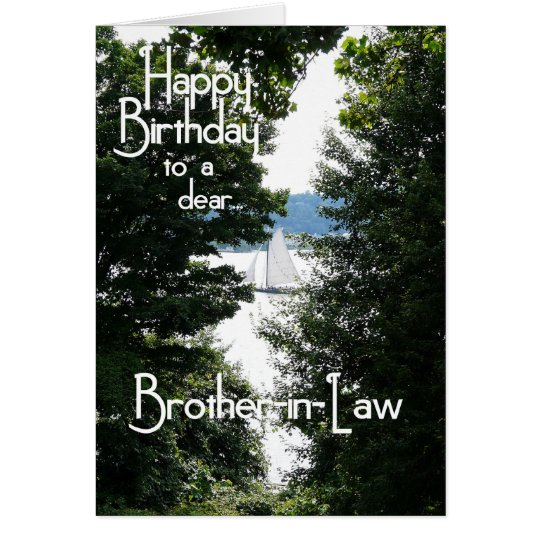 Happy Birthday Brother-in-Law Card