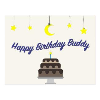 Happy birthday buddy postcard by Syahikmah