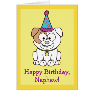 Happy Birthday Bulldog: Nephew Card
