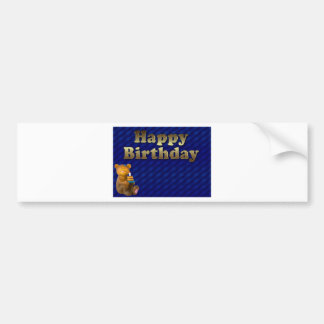 happy-birthday bumper sticker