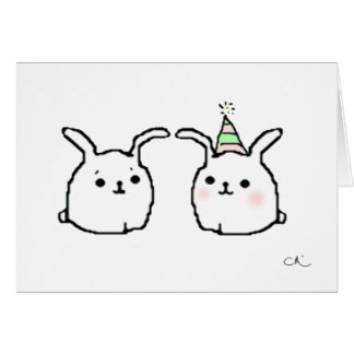 Happy Birthday Bunnies Card
