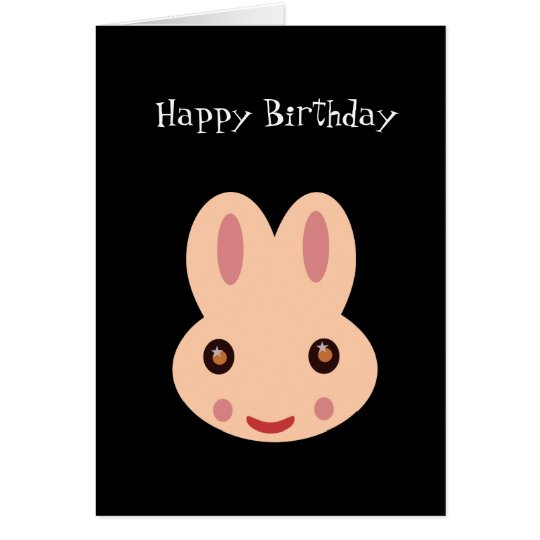 Happy Birthday: Bunny Card