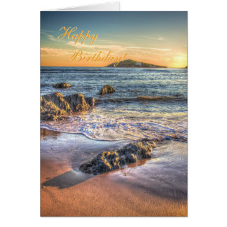Happy Birthday - Burgh Island from Bantham Card