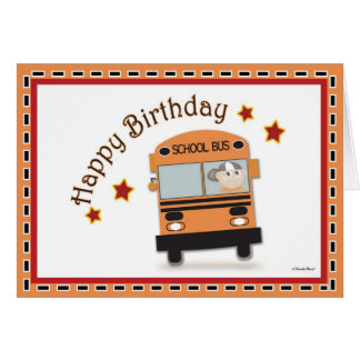 Happy Birthday Bus Driver Card