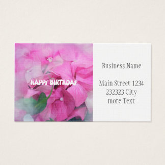 happy birthday business card