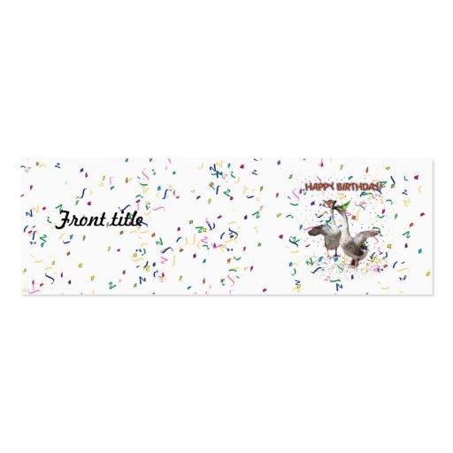 Happy Birthday! Business Card