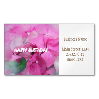 happy birthday business card magnet
