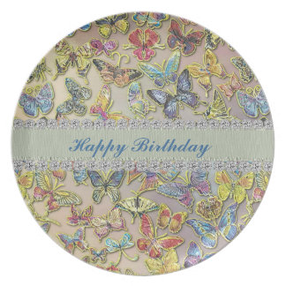 Happy Birthday Butterfly Collector CUSTOM PLATE