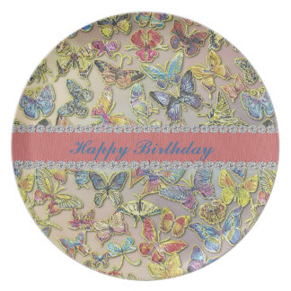 Happy Birthday Butterfly Collector Gift Plate