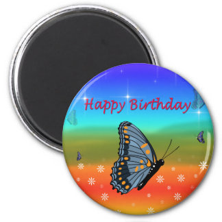 Happy Birthday Butterfly Magnet