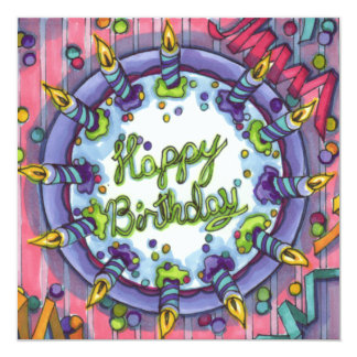 Happy Birthday cake! Card
