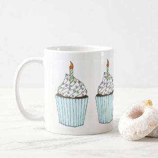 Happy Birthday Cake Cupcake Candle Sprinkles Party Coffee Mug