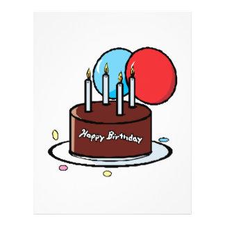 Happy Birthday Cake Custom Flyer