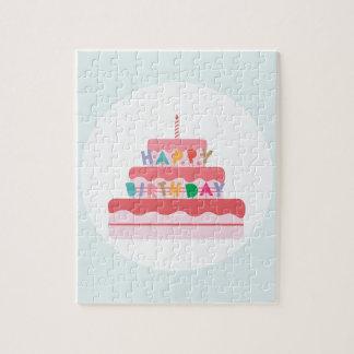 Happy Birthday Cake Jigsaw Puzzle