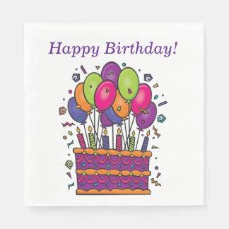 Happy Birthday Cake Napkins #1 Paper Napkins