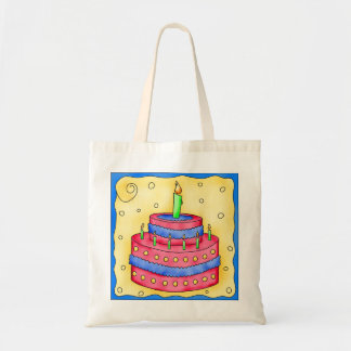 Happy Birthday Cake Tote Bag