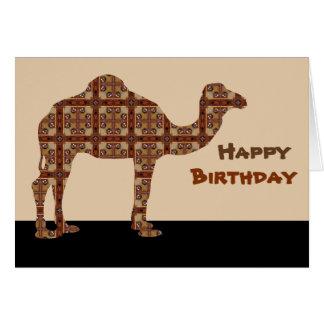 Happy Birthday Camel Card