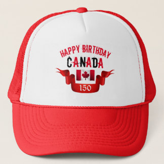 Happy Birthday Canada 150th Birthday - Trucker Hat