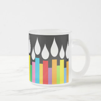 Happy Birthday Candles Frosted Mug