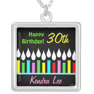 Happy Birthday Candles - Ladies Custom Pendant
