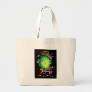 Happy Birthday Capricorn Large Tote Bag