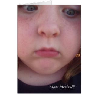 happy birthday??? card