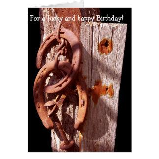 Happy Birthday Card: 4 a lucky and happy Birthday Card