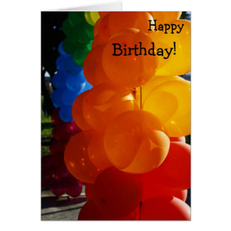 Happy Birthday Card: Bunch of Balloons Card