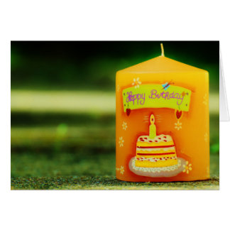 Happy Birthday Card: Candle with Cake Card