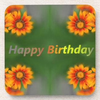 happy birthday card coaster